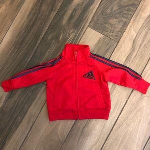 Adidas baby zip-up lightweight track jacket 6 mo